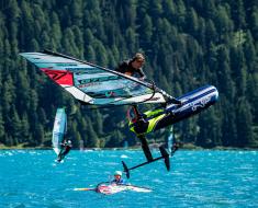 Vanora Engadinwind by Dakine 2020, Silvaplana, Switzerland.  European Freestyle Pro Tour Windsurf Freestyle Tow-in Contest. 20 August, 2020 ©Sailing Energy / Engadinwind 2020