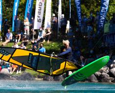 Vanora Engadinwind by Dakine 2020, Silvaplana, Switzerland.  European Freestyle Pro Tour Windsurf Freestyle Tow-in Contest. 20 August, 2020  © Sailing Energy / Engadinwind 2020