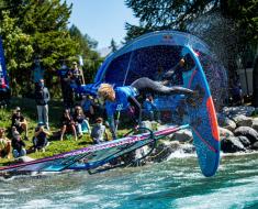 Vanora Engadinwind by Dakine 2020, Silvaplana, Switzerland.  European Freestyle Pro Tour Windsurf Freestyle Tow-in Contest. 21 August, 2020 ©Sailing Energy / Engadinwind 2020