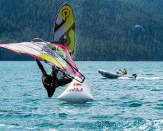 Vanora Engadinwind by Dakine 2020, Silvaplana, Switzerland.  European Freestyle Pro Tour Windsurf Freestyle Tow-in Contest. 22 August, 2020 ©Sailing Energy / Engadinwind 2020