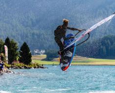 Vanora Engadinwind by Dakine 2020, Silvaplana, Switzerland.  European Freestyle Pro Tour Windsurf Freestyle Tow-in Contest. 22 August, 2020  © Sailing Energy / Engadinwind 2020