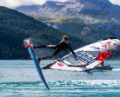 Vanora Engadinwind by Dakine 2020, Silvaplana, Switzerland. Cash for crash  European Freestyle Pro Tour Windsurf Freestyle Tow-in Contest. 23 August, 2020 ©Sailing Energy / Engadinwind 2020